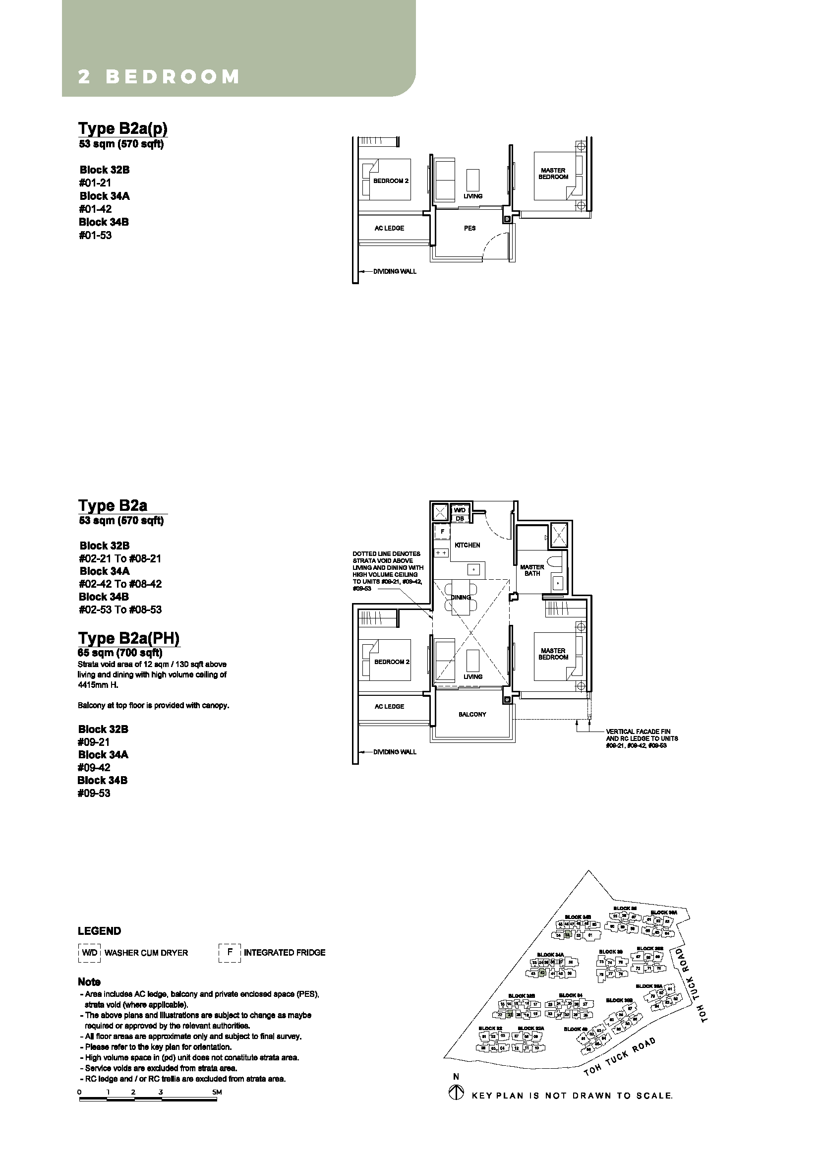 2 Bedroom - Type B2a - B2a(p) - B2a(PH)