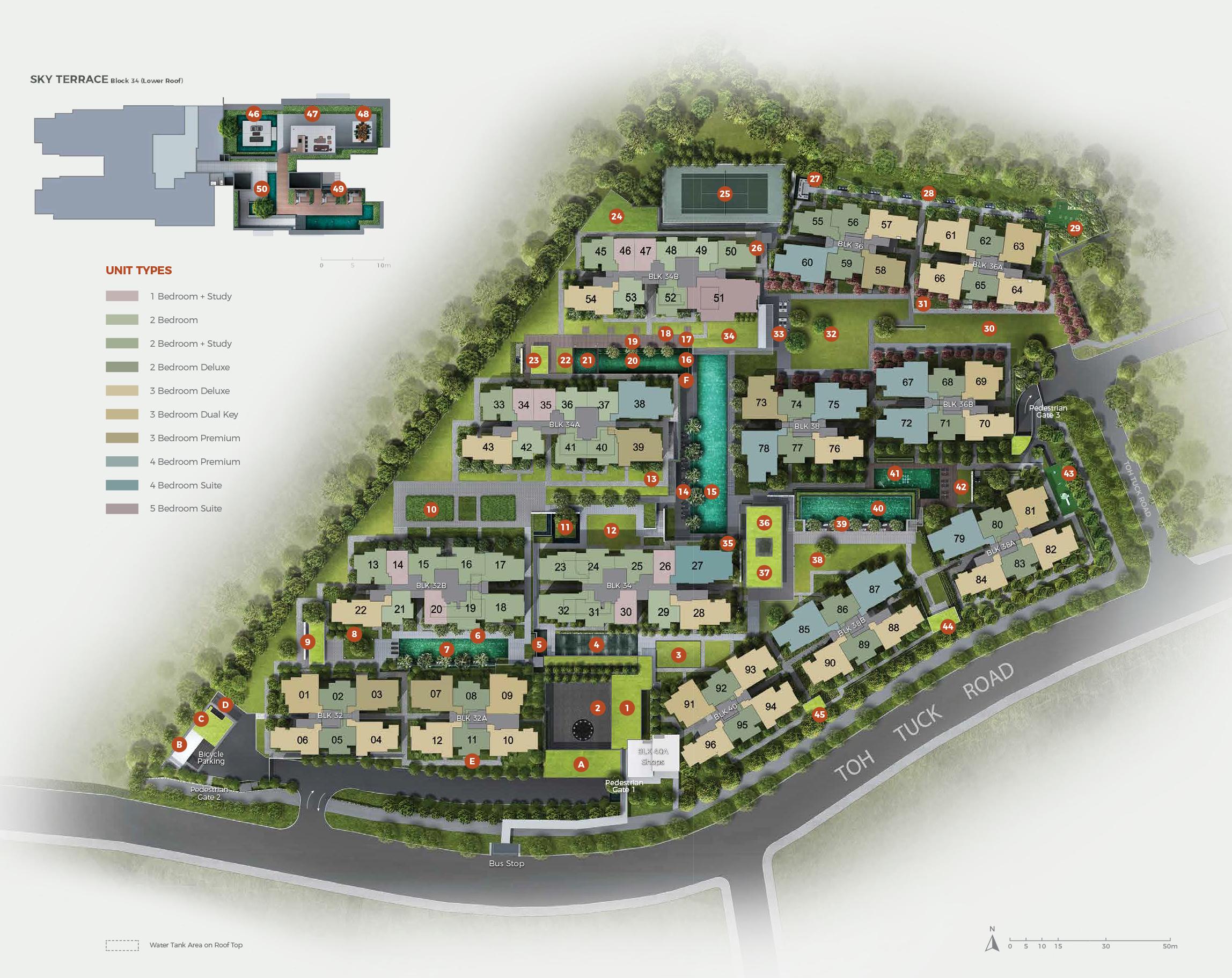 Site Plan of Forett at Bukit Timah