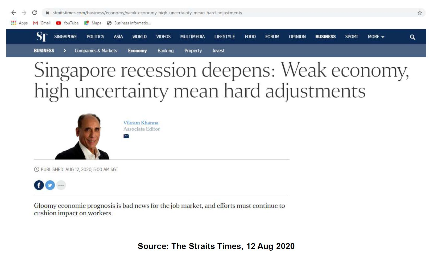 Singapore Recession is Looming